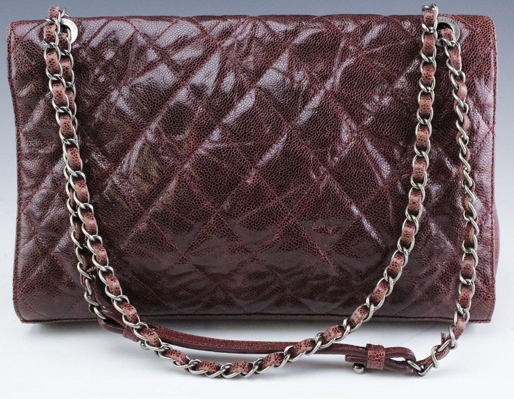 Chanel Jumbo Flap Shiva Burgundy Leather Handbag - 2