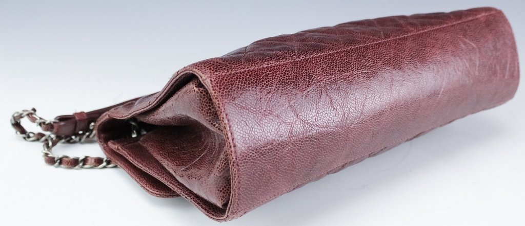 Chanel Jumbo Flap Shiva Burgundy Leather Handbag - 3