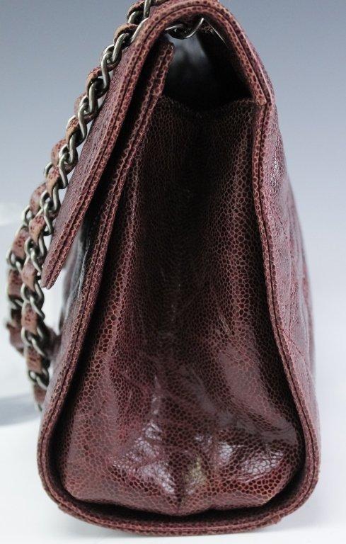 Chanel Jumbo Flap Shiva Burgundy Leather Handbag - 4