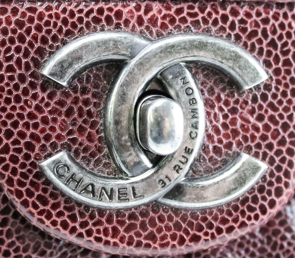 Chanel Jumbo Flap Shiva Burgundy Leather Handbag - 5