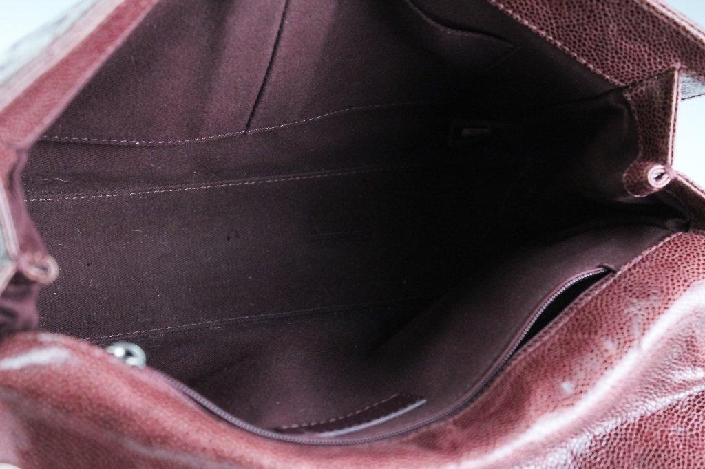 Chanel Jumbo Flap Shiva Burgundy Leather Handbag - 7
