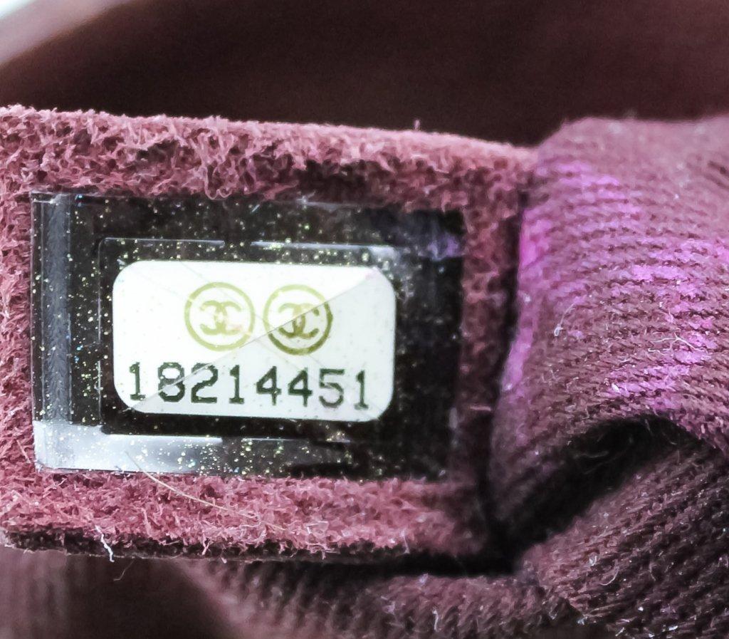 Chanel Jumbo Flap Shiva Burgundy Leather Handbag - 8