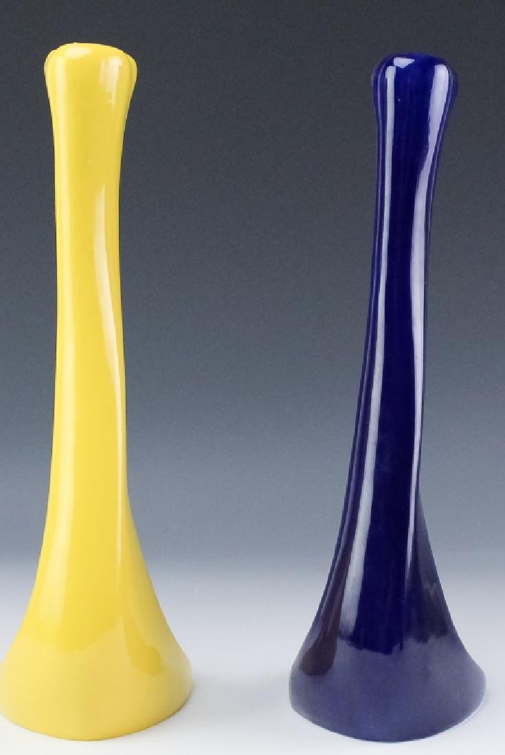 2 Tiffany & Co E. Peretti Yellow Blue Candlesticks