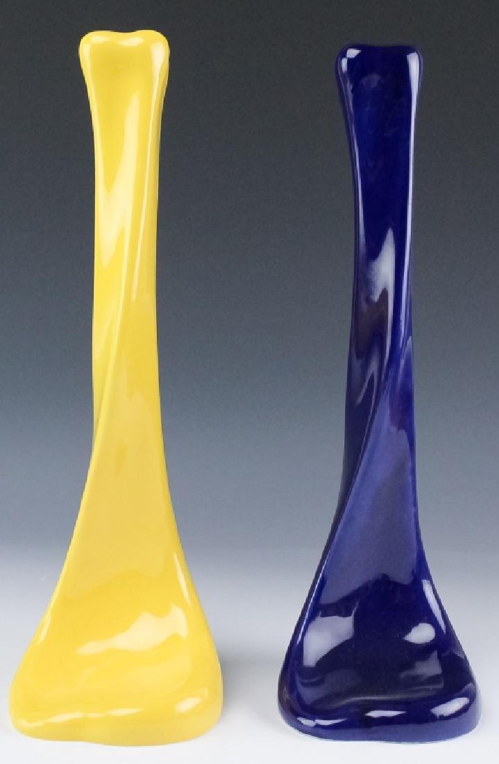 2 Tiffany & Co E. Peretti Yellow Blue Candlesticks - 5