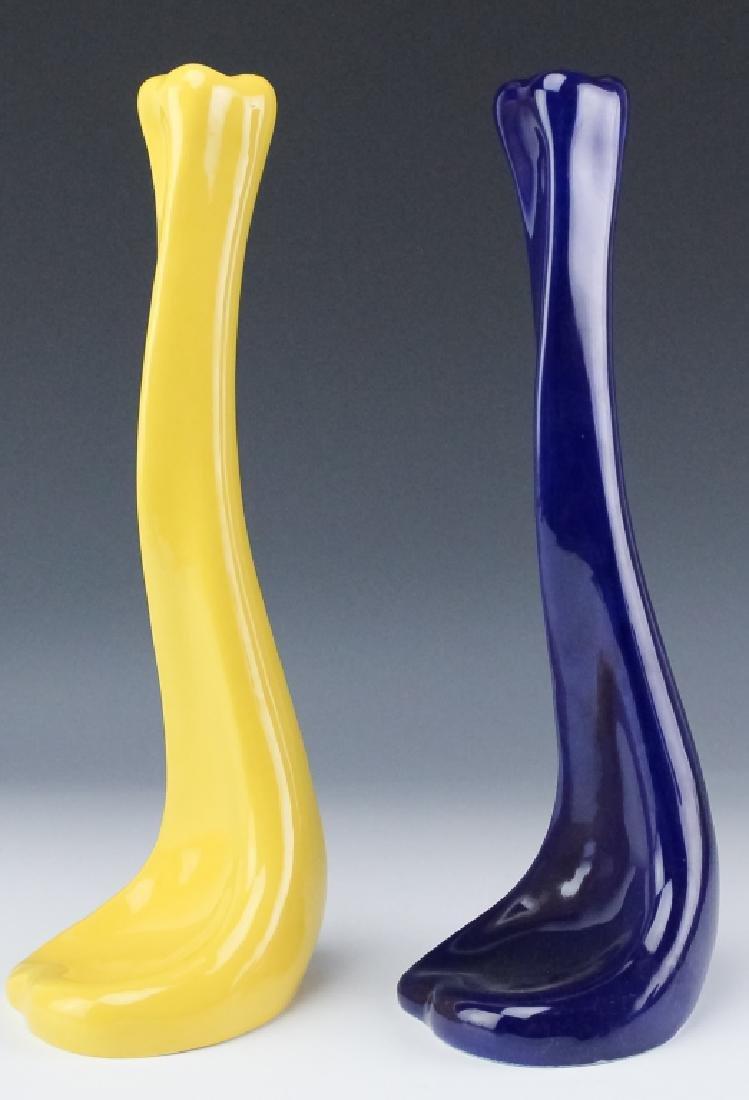 2 Tiffany & Co E. Peretti Yellow Blue Candlesticks - 6