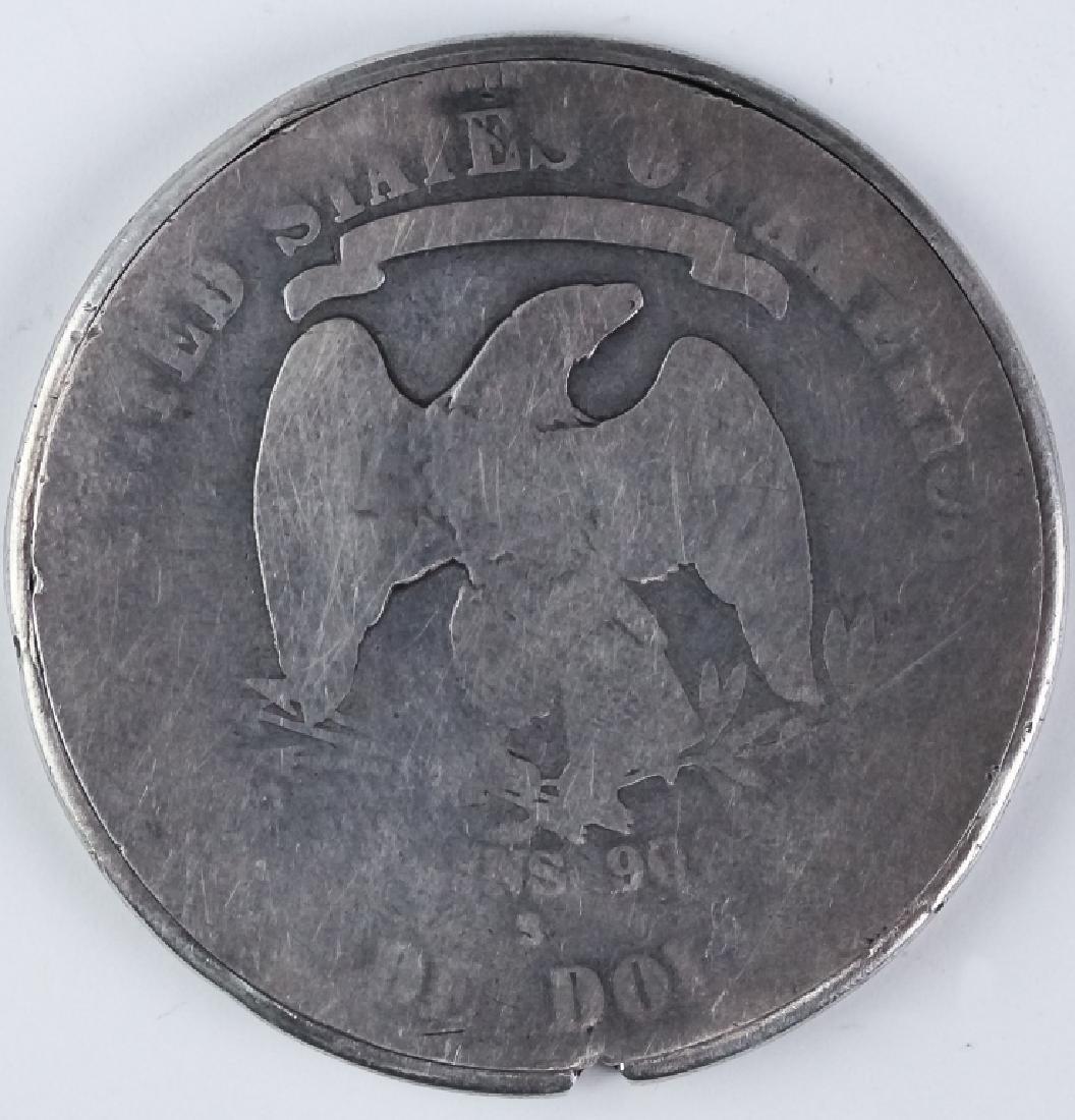 Genuine 1877 S Silver Trade Dollar Opium Box Case - 2