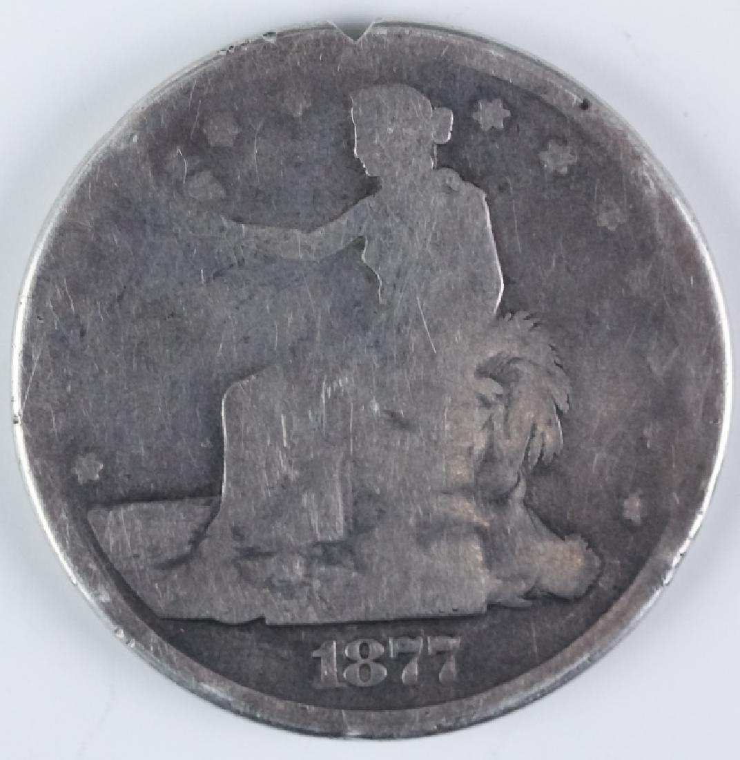 Genuine 1877 S Silver Trade Dollar Opium Box Case - 6
