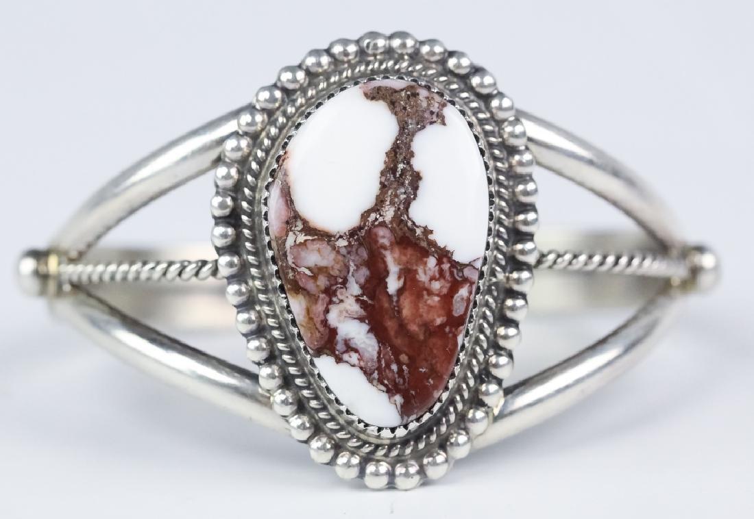 Signed Boyd Native American Silver Navajo Bracelet