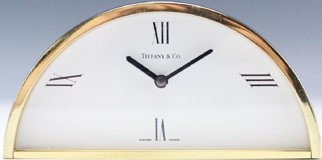 Tiffany & Co. Brass Desk Clock & Porcelain Box - 2