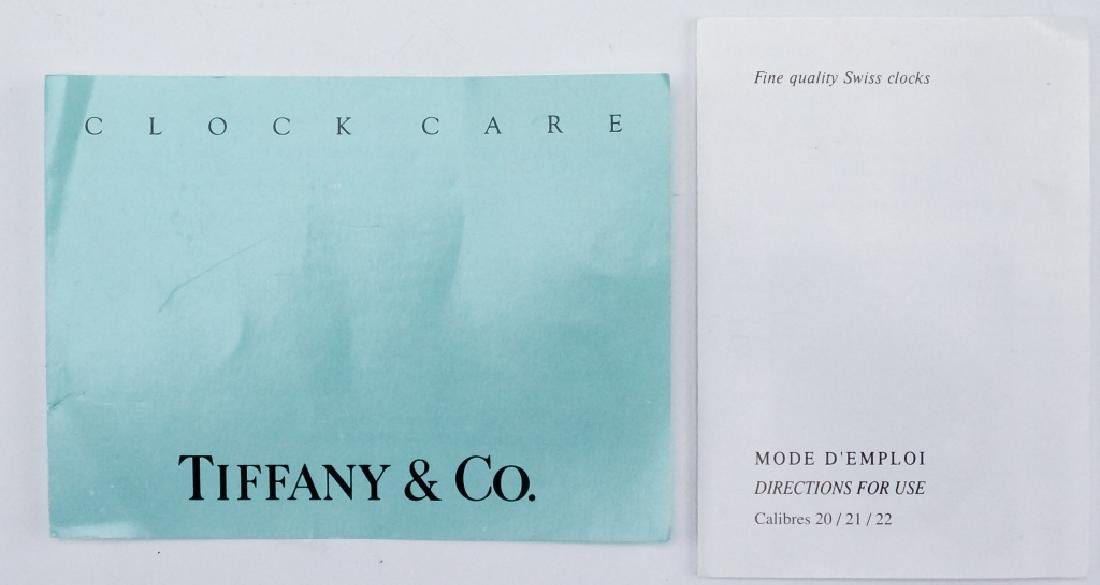 Tiffany & Co. Brass Desk Clock & Porcelain Box - 4