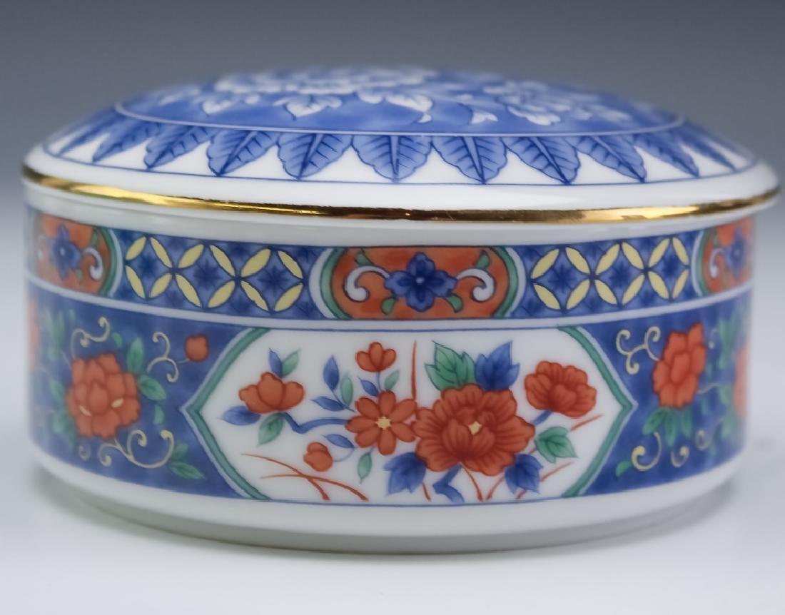 Tiffany & Co. Brass Desk Clock & Porcelain Box - 5