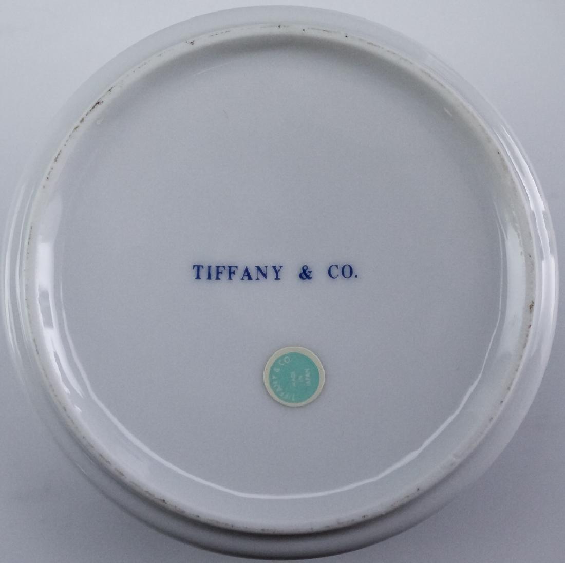 Tiffany & Co. Brass Desk Clock & Porcelain Box - 7
