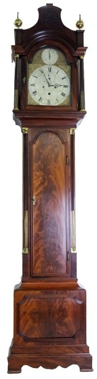 Antique 18c English Long Case Grandfather Clock