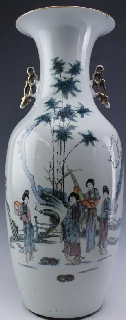 Pair Chinese Export Porcelain Famille Verte Vases - 7