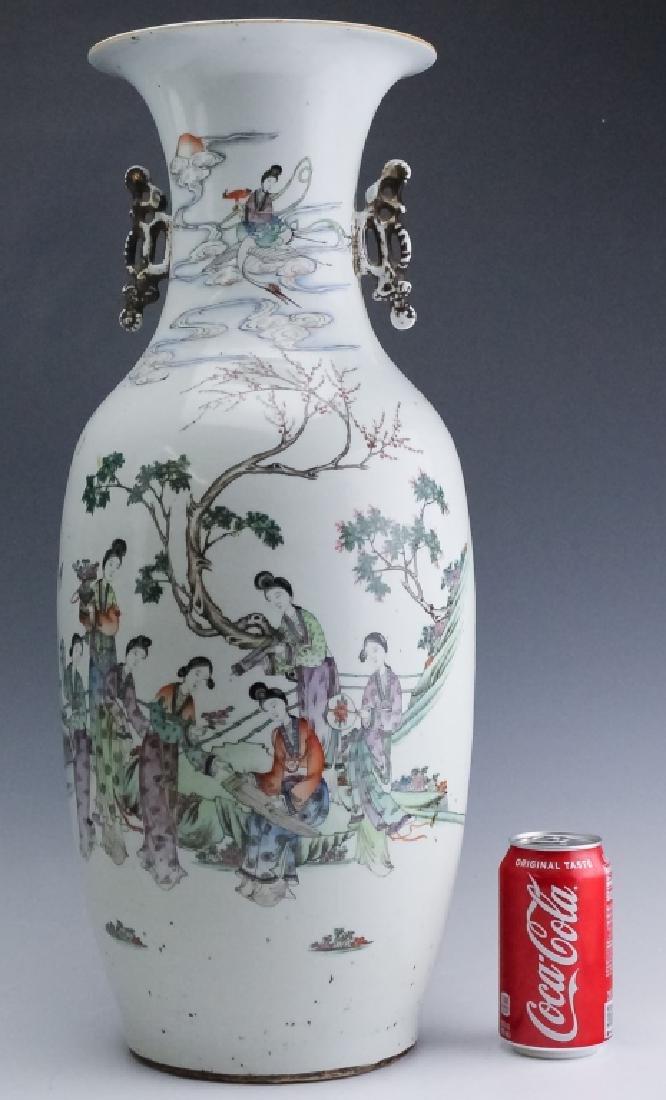 Pair Chinese Export Porcelain Famille Verte Vases - 9