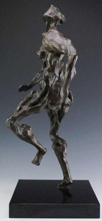 Modern Figural Female Nude Bronze Sculpture SIGNED - 3