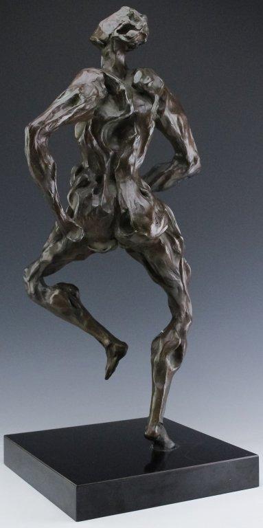 Modern Figural Female Nude Bronze Sculpture SIGNED - 4