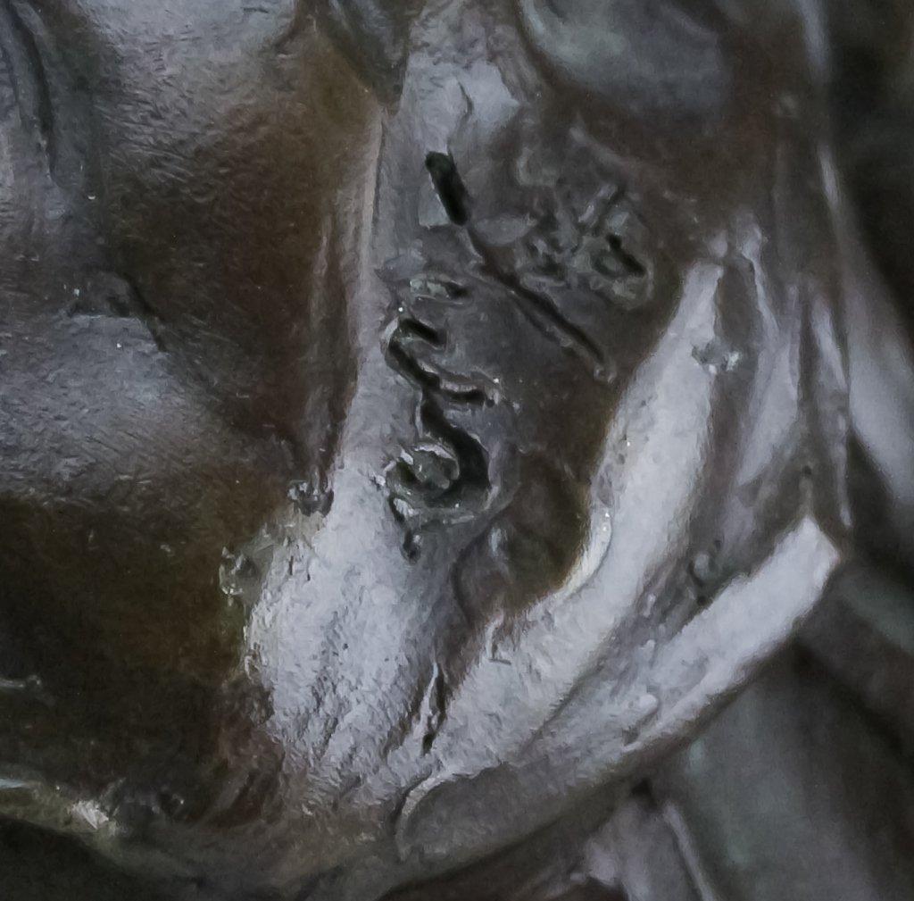 Modern Figural Female Nude Bronze Sculpture SIGNED - 5