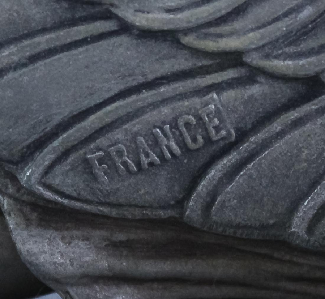 French Art Deco Metal Sculpture On Stone Base - 5