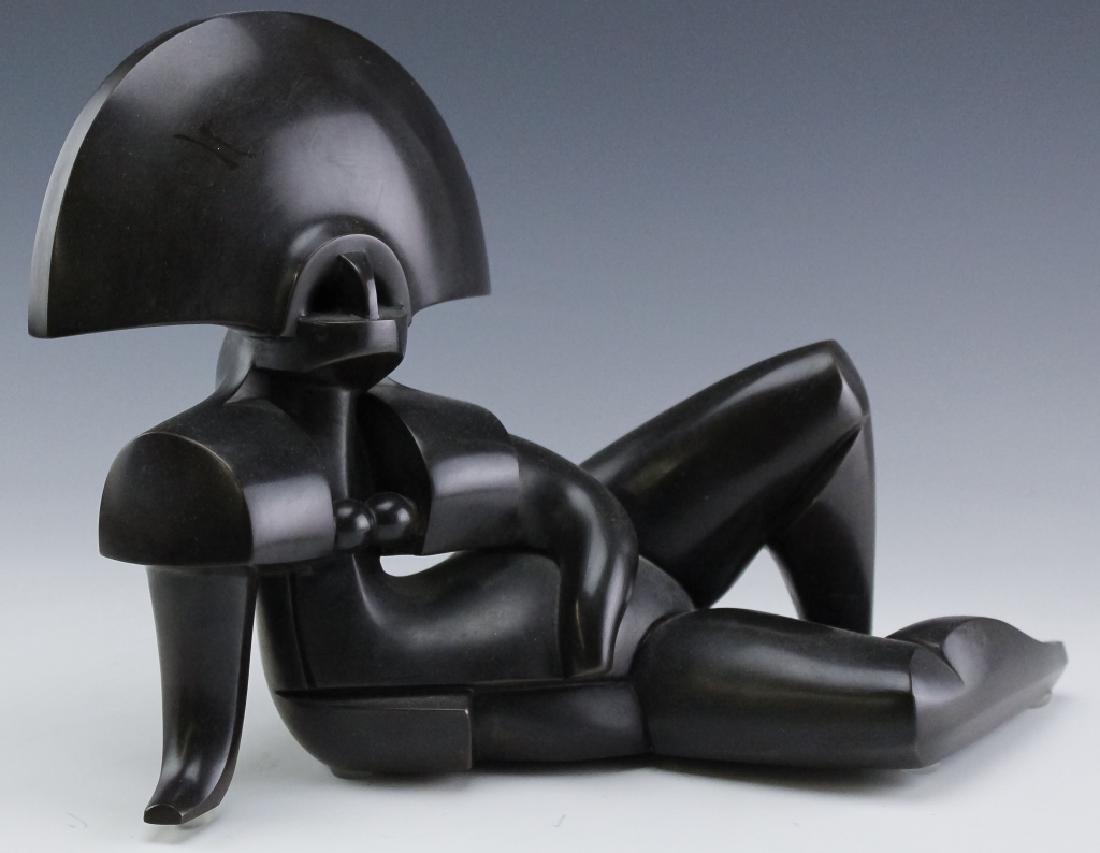 Howard H Newman Giulia Cubist Bronze AP Sculpture