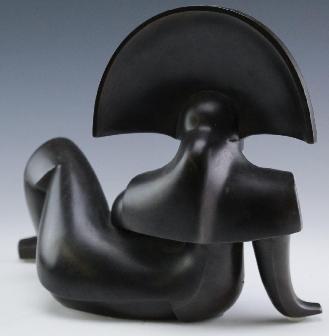 Howard H Newman Giulia Cubist Bronze AP Sculpture - 3