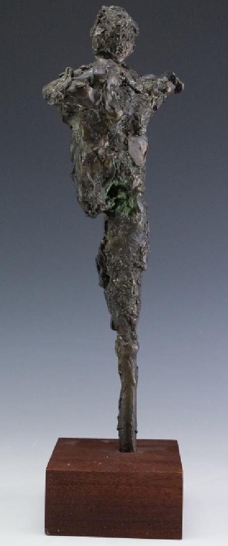 Brutalist Giacometti Style Bronze Modern Sculpture