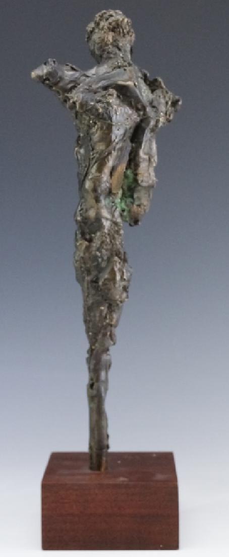 Brutalist Giacometti Style Bronze Modern Sculpture - 3