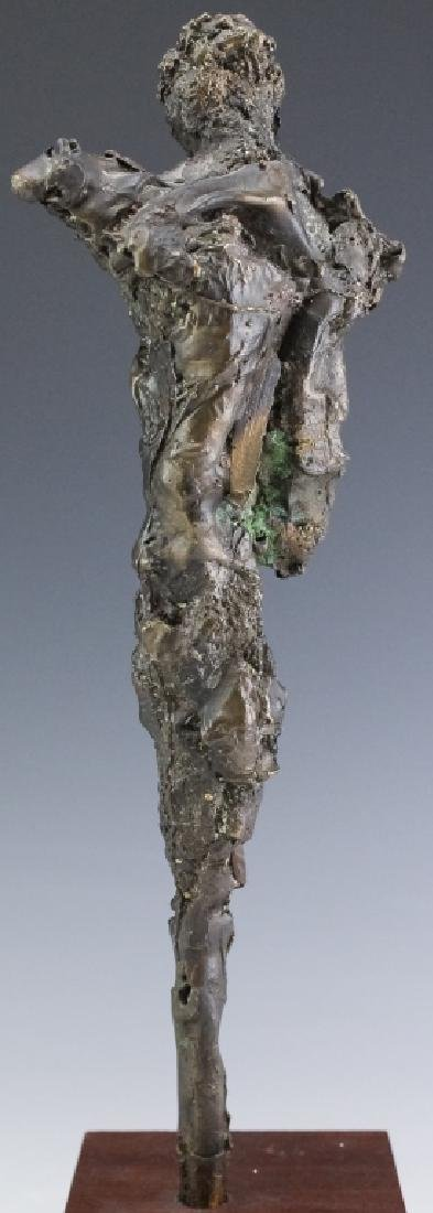 Brutalist Giacometti Style Bronze Modern Sculpture - 4