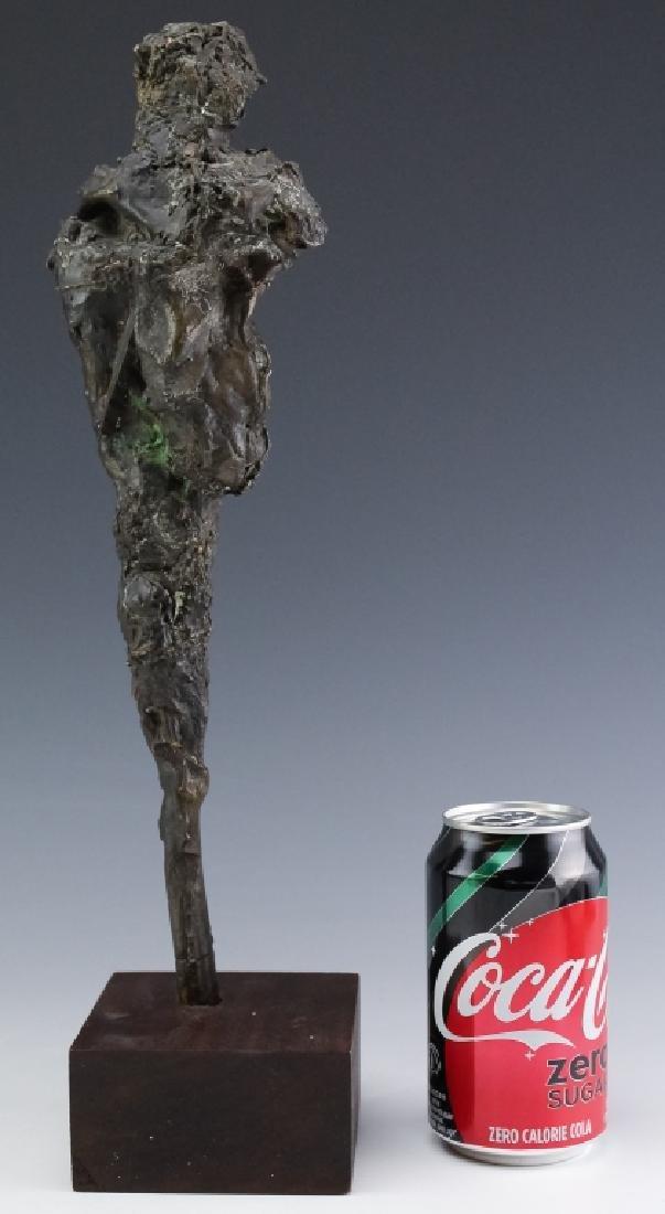Brutalist Giacometti Style Bronze Modern Sculpture - 7