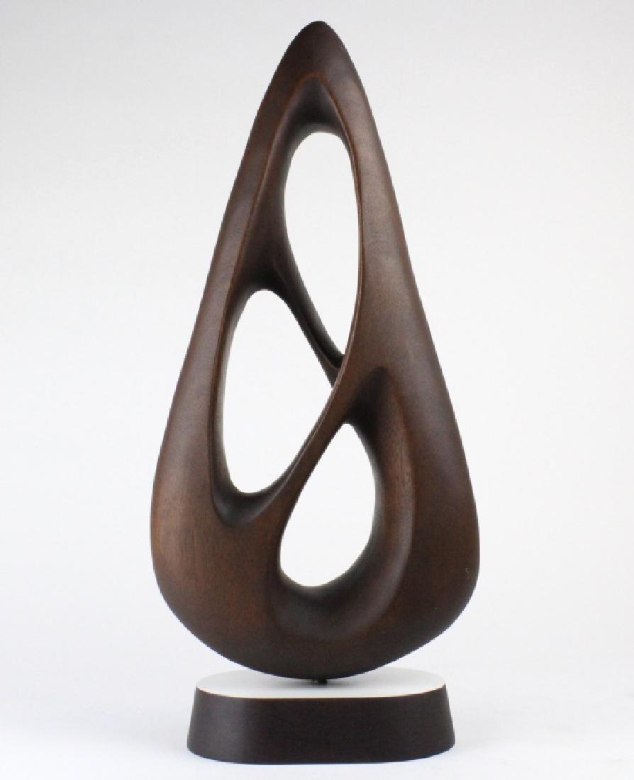 Gert Olsen Modernist Wood Abstract Art Sculpture - 2