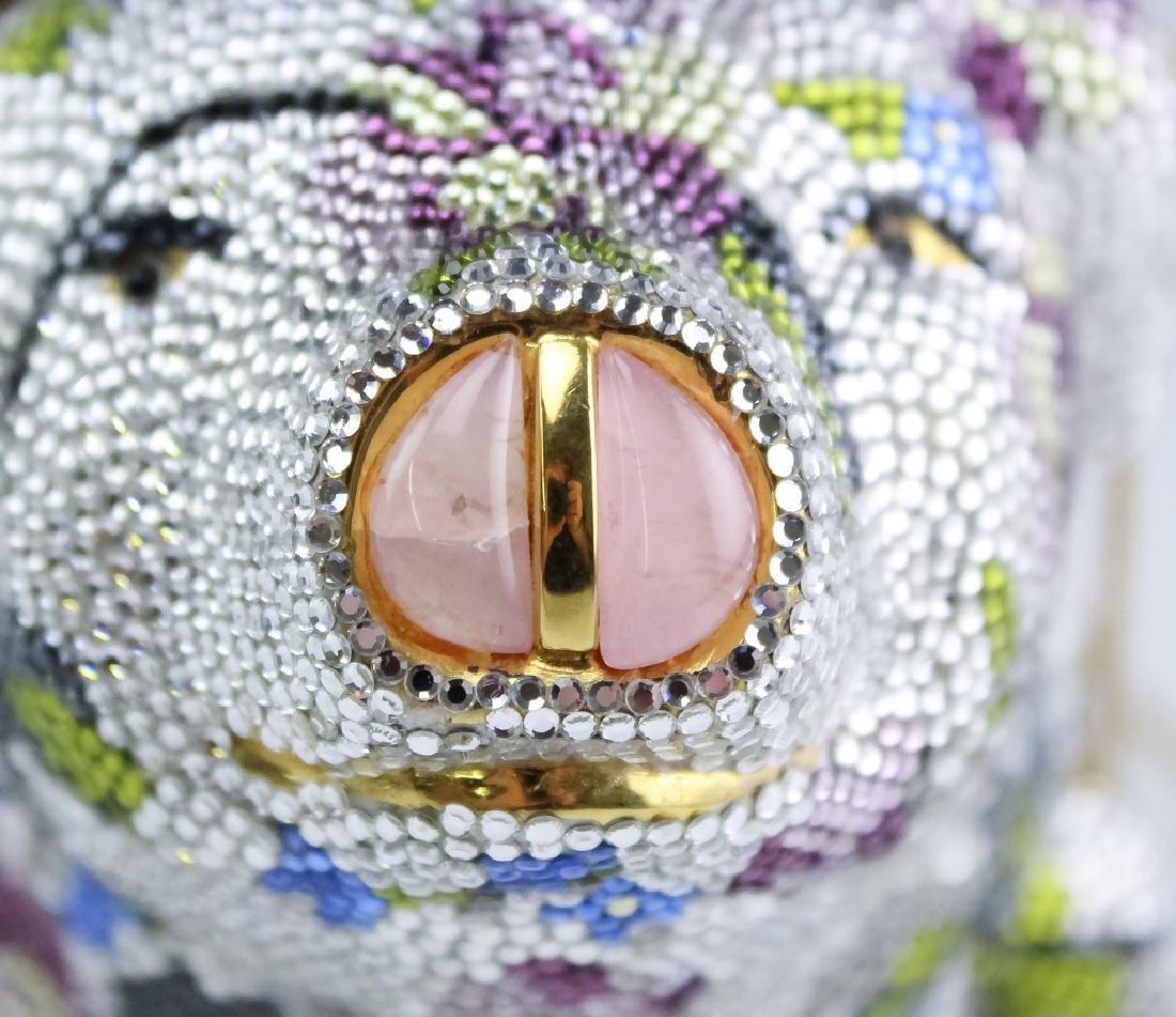 Judith Leiber Crystal Minaudiere Pig Clutch Purse - 3