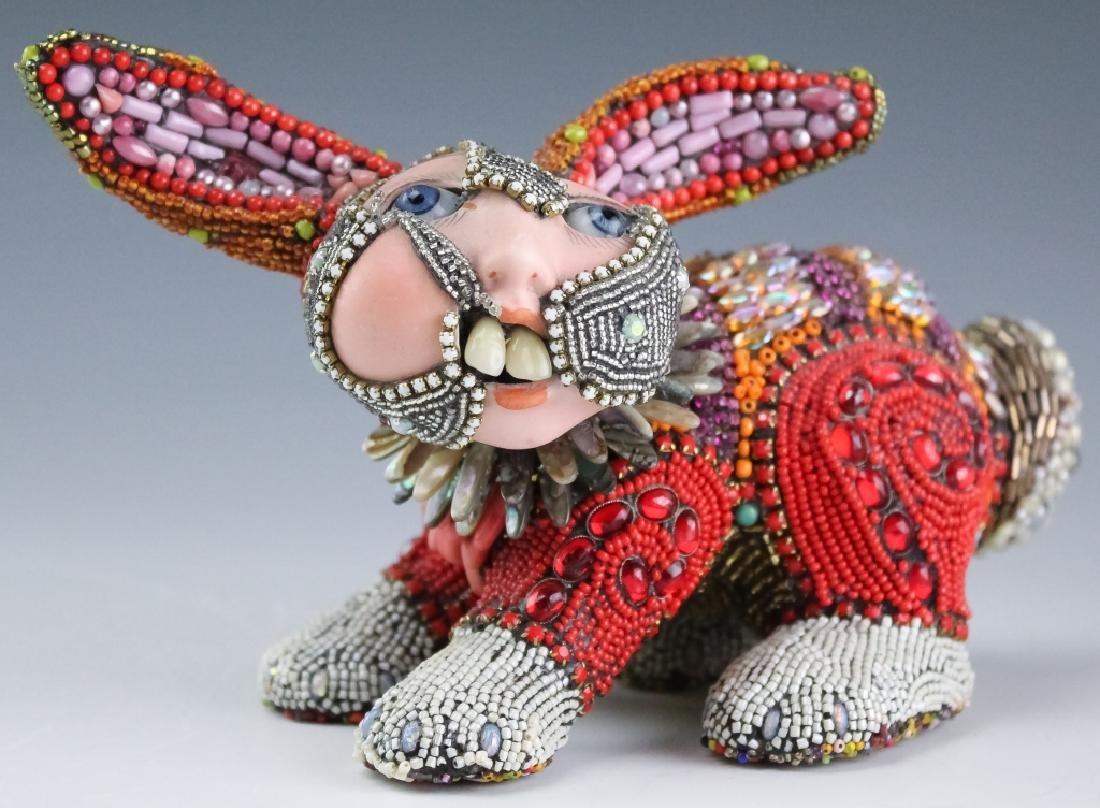 Betsy Youngquist Surrealist Rabbit Art Sculpture