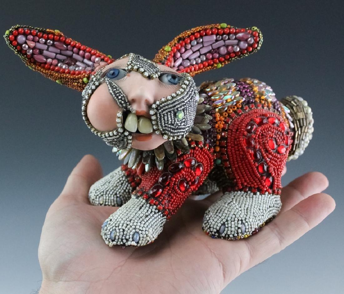 Betsy Youngquist Surrealist Rabbit Art Sculpture - 9