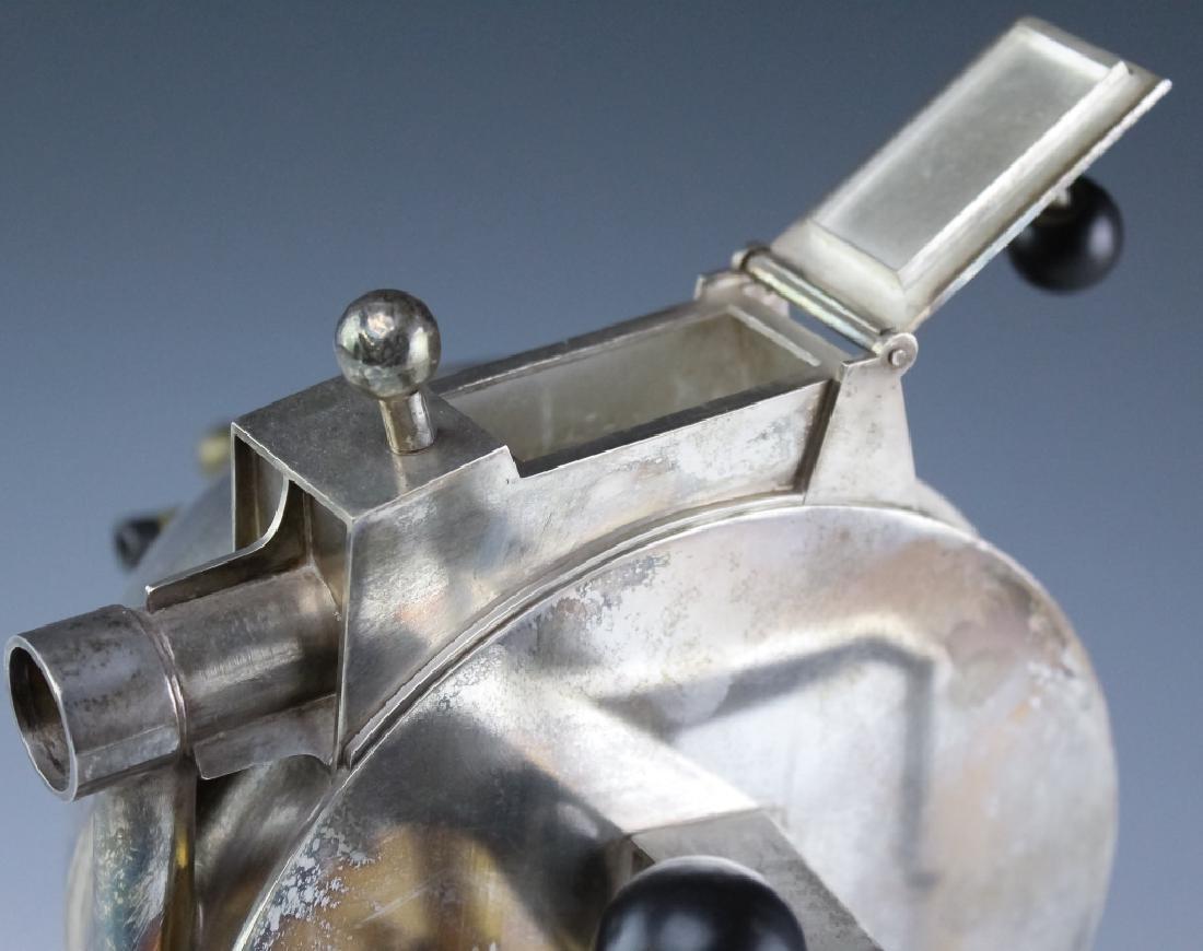 Curtis Lafollette Sterling Silver Steampunk Teapot - 5