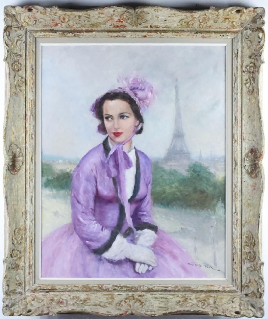 Pal Fried 1893-1976 Parisian Portrait Oil Painting