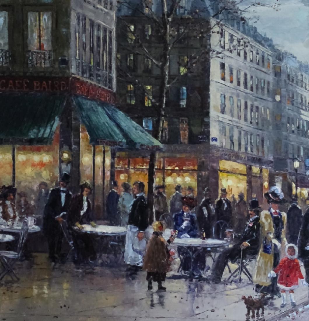 "Robert Lebron French Parisian Oil Painting 33""x75"" - 4"