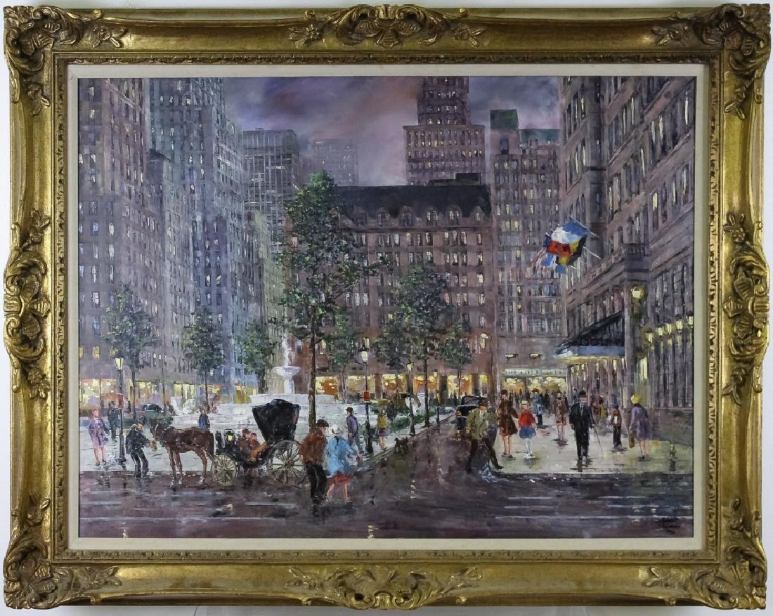 Robert Lebron 1928-2013 Parisian Scene Painting