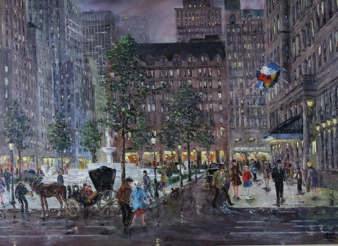 Robert Lebron 1928-2013 Parisian Scene Painting - 2