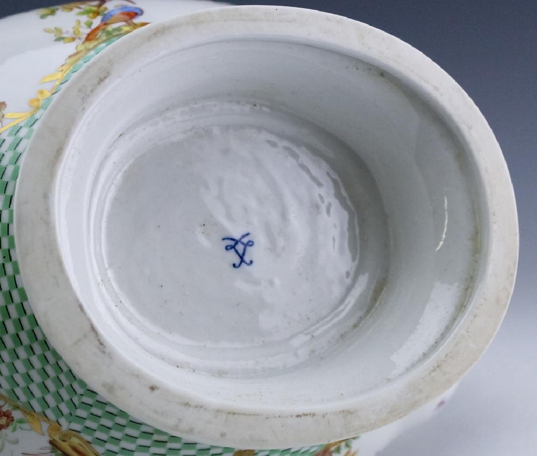 Sevres Type Porcelain Oval Covered Soup Tureen - 7