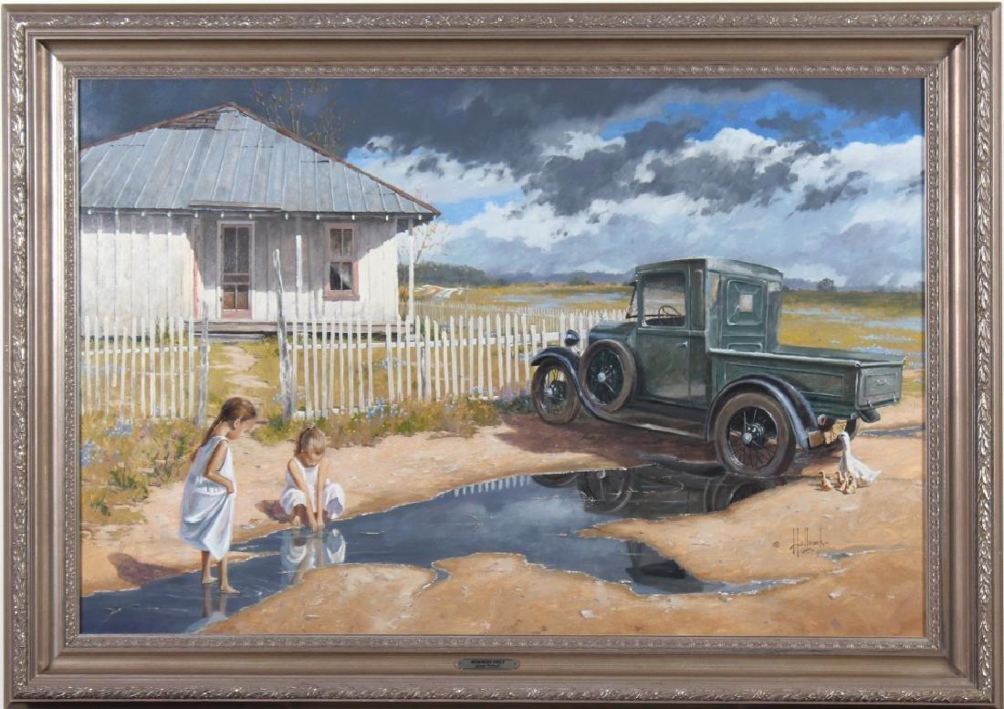 George Hallmark b.1949 American Art Oil Painting