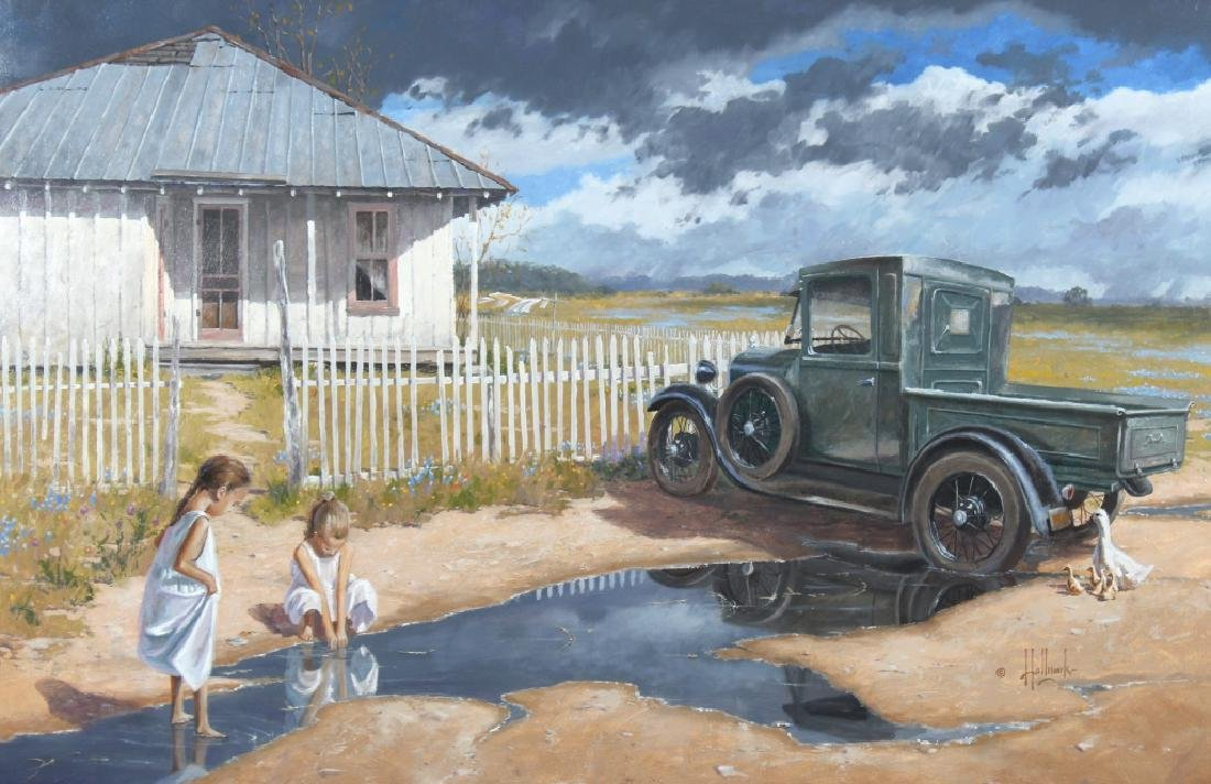 George Hallmark b.1949 American Art Oil Painting - 2