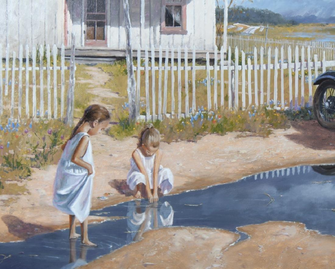 George Hallmark b.1949 American Art Oil Painting - 3
