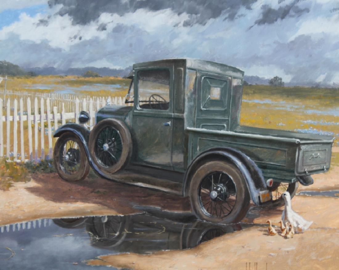 George Hallmark b.1949 American Art Oil Painting - 4