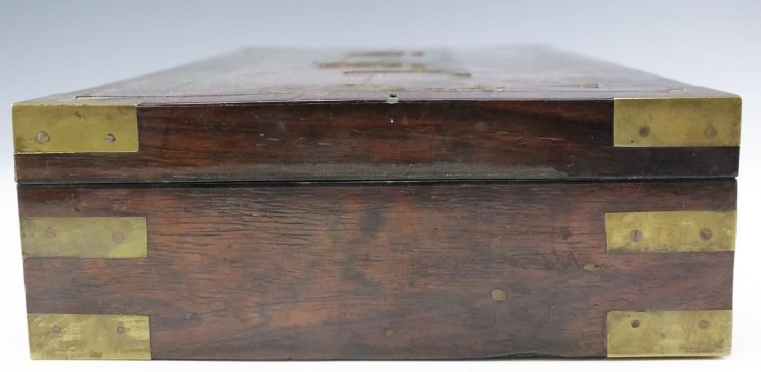 1860 SS Cornubia Copper & Mahogany Wood Pistol Box - 4