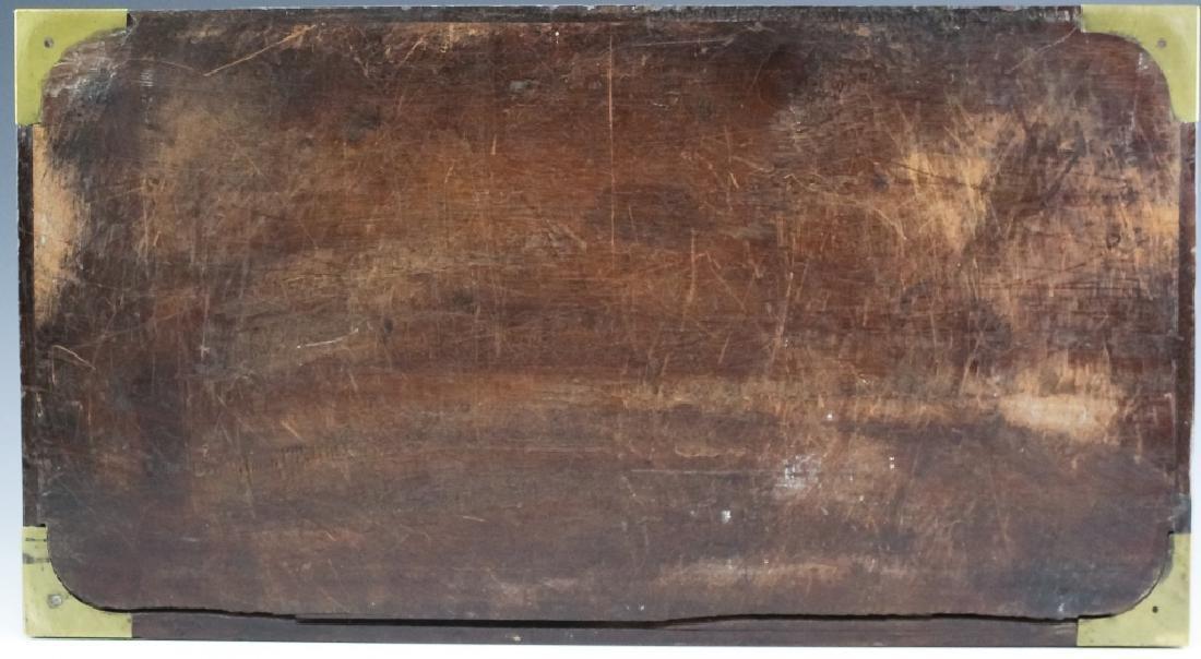 1860 SS Cornubia Copper & Mahogany Wood Pistol Box - 5