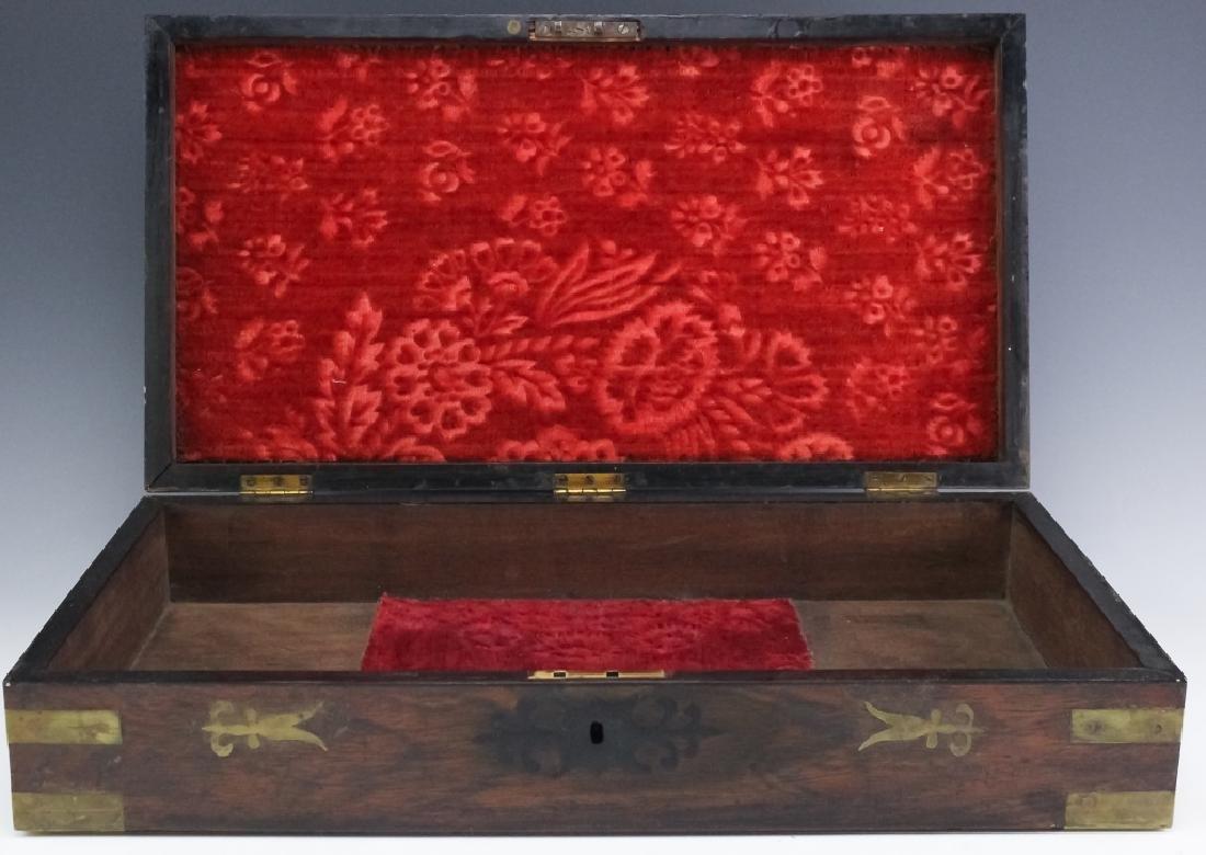 1860 SS Cornubia Copper & Mahogany Wood Pistol Box - 6