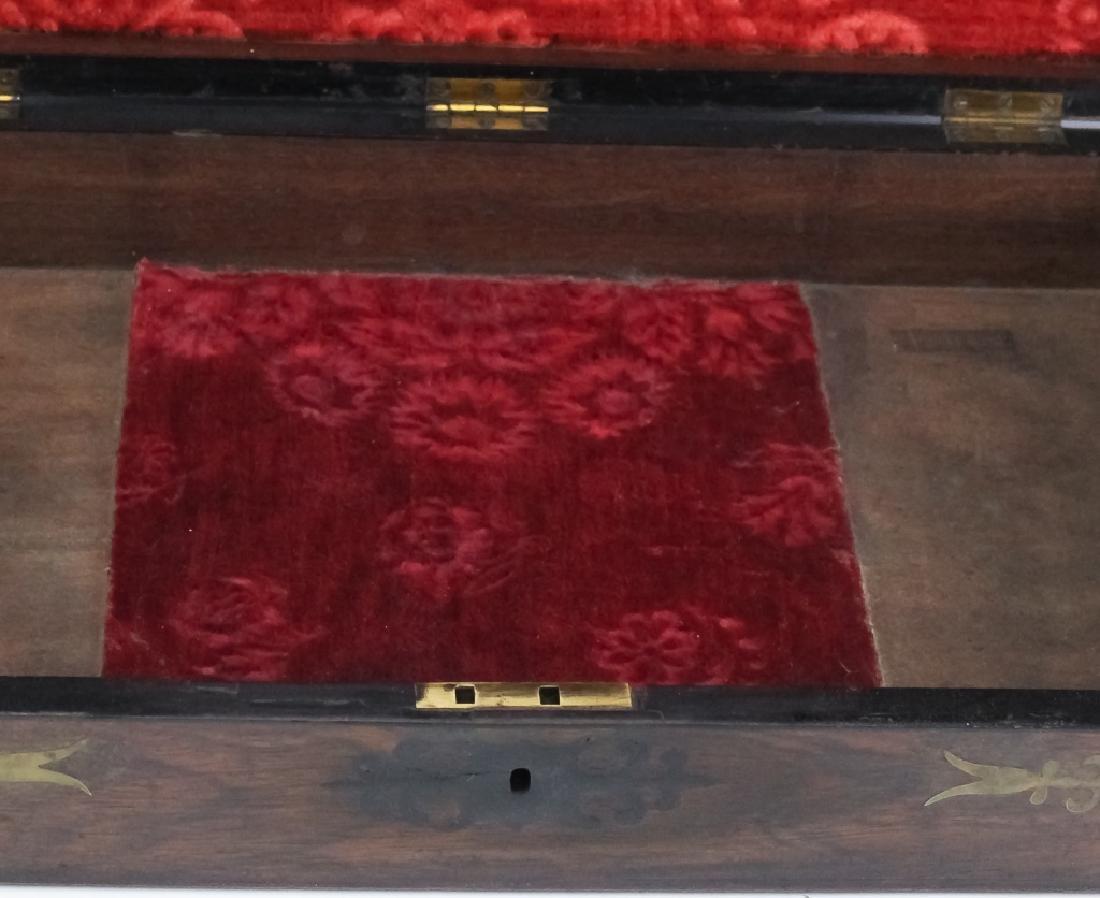 1860 SS Cornubia Copper & Mahogany Wood Pistol Box - 8