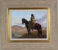 Robert Duncan American Indian Landscape Painting