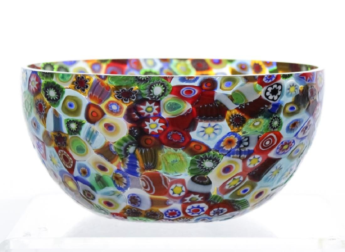 Murano Millefiori Toso? Italian Art Glass Bowl