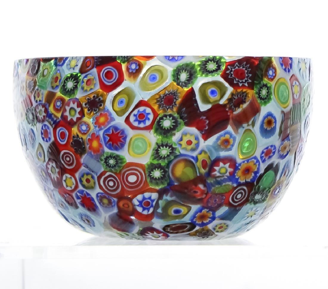 Murano Millefiori Toso? Italian Art Glass Bowl - 2
